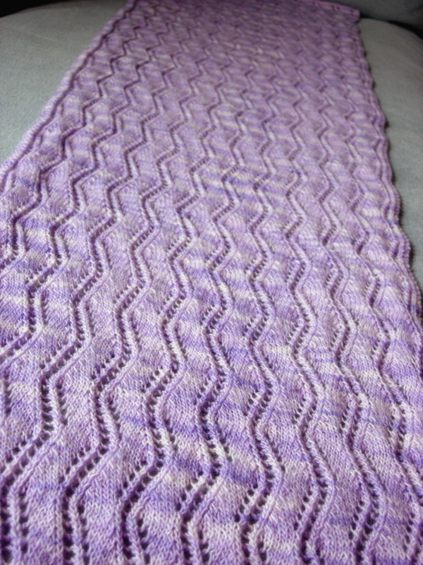 Lavanda Lace Ribbon Stole