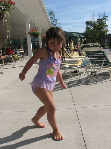 Dancing at the pool