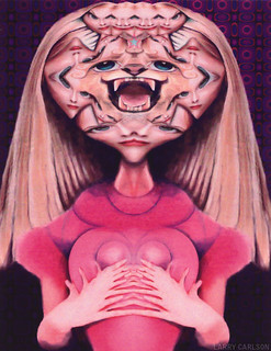 LARRY CARLSON, She-Cat, c-print, 30x34in., 1999.
