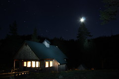 cabin at night (scoremat) Tags: longexposure camping moon lightpainting night stars cabin openshutter plumas lakesbasin openexposure salmonlake sierracity lakesbasinrecreationarea tahoenationalforrest