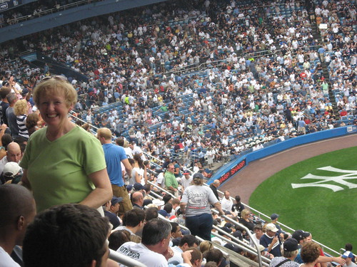 Mom at Yankees Game