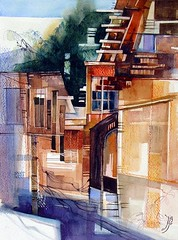 Abstract Abyaneh (R.khosh) Tags: abstract art watercolor painting village iran sensational  abyaneh northofiran    themastersofwatercolour