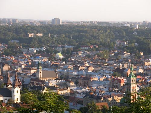 Vista di Lviv, Leopoli, in Ucraina.