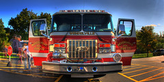 FIRETRUCK- (mt_photo) Tags: cmndrfoggy mtphoto usa firetruck fire truck red blue sky hdr safety rescue hero volunteer michaelthomas mike thomas mikethomas