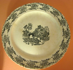 Black and White Antique Plate