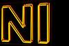 Tribute to the Knights (janbat) Tags: orange paris yellow jaune 35mm austin nikon magasin montypython minicooper f2 d200 nikkor austinmini vitrine néons theknightswhosayni bmwgroup sacrégraal jbaudebert