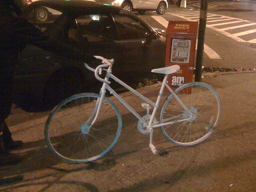 Ghost Bike in Ft. Greene
