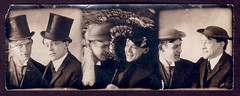 Love-Your-Hat (bloomfield and george) Tags: men vintage found costume photobooth buddies hats tophat vernacular 1910s dressups