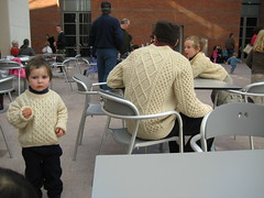 3 matching off-the-charts hand-knitted sweaters