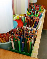 Pots à crayons, école maternelle