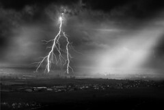 Foudre sur la plaine - Lightning plain (andrewagner) Tags: light vineyards lightning alsati