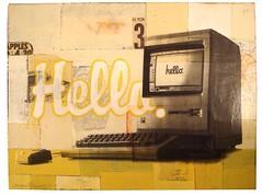 Hello (charles_mangin) Tags: apple painting macintosh artwork mac mixedmedia robertmars