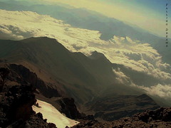 Up above the World (Falling Dreams) Tags: sky mountain snow clouds iran damavand peak iranian         fallingdreams