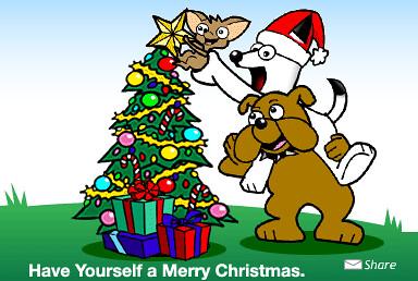DogPile Christmas Logo