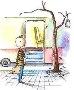 下車的一刻,他回顧車廂,也許會為區區一個座位而感慨,自以為大徹大悟。