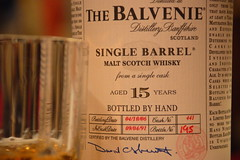 The Balvenie bottle 195 of 350