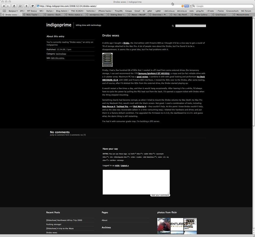 blog.http://nickt.com screenshot from December 2008