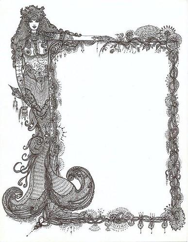 Mehndi Mermaid Border by Christine von Lossberg
