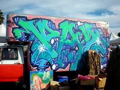 PAZ Van (See El Photo) Tags: street city urban 15fav favorite streetart color art car wall truck fun graffiti paint ride grafiti graf transport urbanart spraypaint fav graff wacky grafite 1f  automoblie 2f  crazyride wackyride artride seeelphoto chrislaskaris