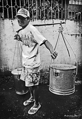 """ A N G T A H O ""  (B O W) (maraculio) Tags: bw white black art proud wow tobe philippines gray filipino sa ang puti noypi pinoy pilipinas taho pinas desaturate artphoto magtataho sago itim kulot madeinthephilippines maraculio lumaki rapsakungmainit arnibal"