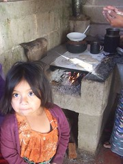 Paulina with Francisco's stove