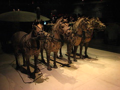 Horses and chariot (Sparky the Neon Cat) Tags: china horse museum army asia terracotta chinese xian warrior warriors chariot shaanxi