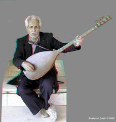 Vendor Player_Anaglyph 3D : : You need Red/Cyan glasses (Shahrokh Dabiri) Tags: musician persian 3d iran player stereo vendor iranian tehran triplet   sterography ethnicinstrument    dotaar