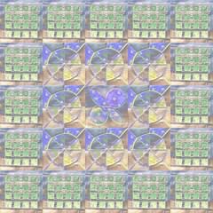 Bzzz.2.5x5.AAC2.P2 (Minkas Studio) Tags: blue baby flower green yellow circle square aqua hand quilt jane mosaic wing lavender bee virtual jail periwinkle b2 block melon dear applique e9 bzzz mosaicmaker pieced f13 textiledesign fabricdesign fussycut e09 djq virtualquilt b02bb02