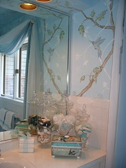 Bathroom I did in RNS Showhouse 2007 (rachelchristydesigns) Tags: birds designer branches chinoiserie showhouse shabbychic decorativepainting