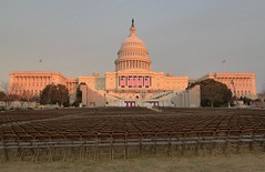 US Capitol ready for Obama (ekai) Tags: sunset washingtondc president uscapitol inauguration barackobama