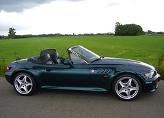 BMW Z3 M52 2.8 Hartge (MarkXYVL) Tags: green boston inch metallic m bmw 28 18 rims cabrio z3 52 roadster hartge