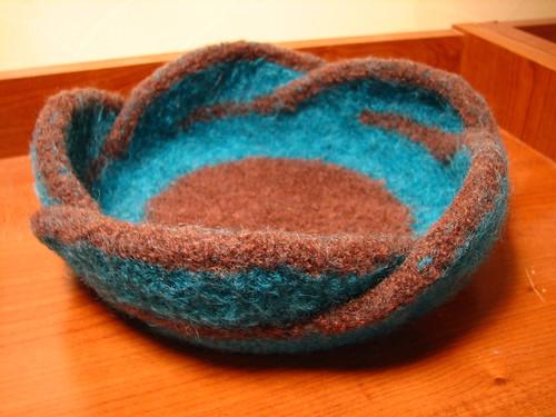 Free Pattern Pentafold Felted Moebius Bowl Knitfreedom