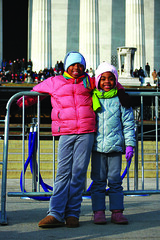 Sisters. (eyewashdesign: A. Golden) Tags: happy golden dc washington january 2009 crowds elated inauguration joyous crowded january20 barackobama barack presidentialinauguration uspresident alane alanegolden eyewashdesign historicday 44thpresident barackobamainauguration