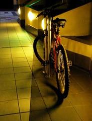 .. (Murfomurf) Tags: summer cinema bike bicycle night outside lights restaurant adelaide norwood 2009 mywinners mywinner