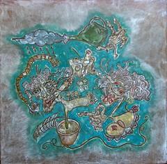 La colère (louisphilippevivien) Tags: paint rawart dessin peinture artbrut tableau toile peintre artsingulier artistepeintre figurationlibre louisphilippevivien