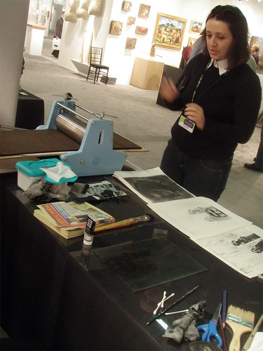 Printmaking Demo at LA Art Show