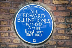 Photo of Edward Burne-Jones blue plaque