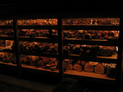 rope lighting in new log racks