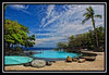 ANTULANG RESORT (RAJ BELLEZA) Tags: blue trees sky green clouds stones swimmingpool dumaguete coconuttree antulang infinitypool saltwaterpool antulangresort garbongbisaya photographersclubofcebu