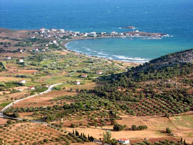 Βόρειο Αιγαίο - Λέσβος - Δήμος Ερεσού- Αντίσσης Ο Γαββαθάς από ψηλά