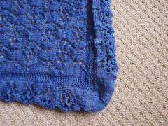 Waterlilies shawl - unblocked