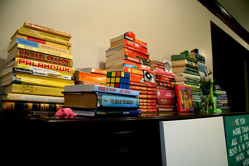 Rainbow Book Stacks