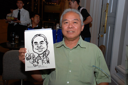 Caricature live sketching for Tetra 60th Anniversary - 8