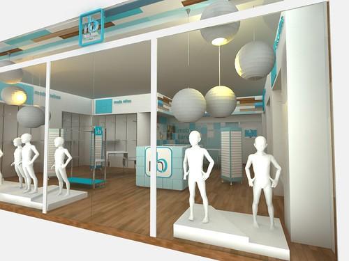 Aparadores para Tienda Moda BEBE. CUBO 3. Diseño de Tiendas ...