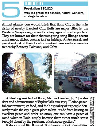 Iloilo among the best places to live by Moneysense Magazine