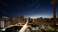 Stars and Planes (wvs) Tags: longexposure light toronto night stars timelapse long exposure trail planes helicopters ddoi