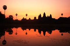 And then it dawned on me... (Road Blog) Tags: morning pink sky sunlight sunrise temple dawn cambodia quiet peace buddhism angkorwat sie