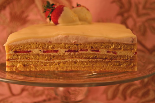 Edge view of the cake