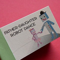 father-daughter robot dance