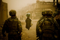 zoriah_iraq_war_baghdad_soldiers_mission_sand_storm_Iraqi_woman (Zoriah) Tags: city wall photography photo war iraq hijab photojournalism documentary baghdad conflict barrier sadr chador zoriah